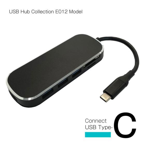 WEB限定販売 USBハブ USB3.1 Gen1 タイプC接続 USB−A×3ポート HDMI SD マイクロSD タイプCポート E012モデル