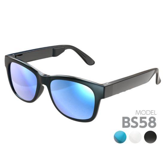 骨伝導サングラス 3カラー交換用レンズ付属 防水IPX4準拠 Bluetooth Ver4.1 BS58モデル
