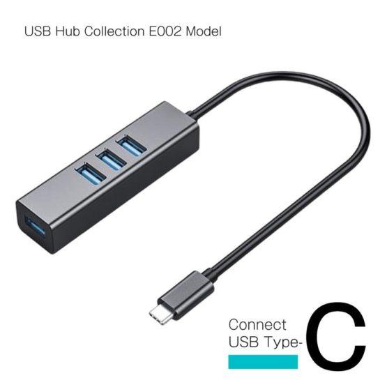WEB限定販売 USBハブ USB3.1 Gen1 タイプC接続 USB−A×4ポート E002モデル