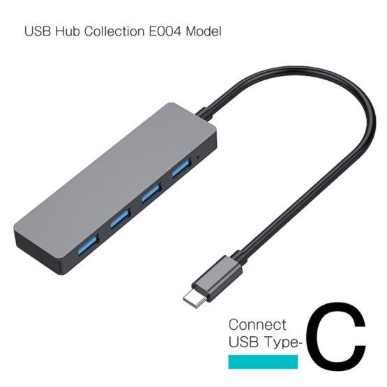 WEB限定販売 USBハブ USB3.1 Gen1 タイプC接続 USB−A×4ポート E004モデル