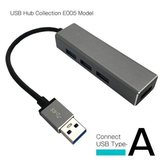 WEB限定販売 USBハブ USB3.0 タイプA接続 USB−A×4ポート E005モデル