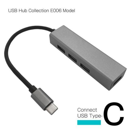 WEB限定販売 USBハブ USB3.1 Gen1 タイプC接続 USB−A×4ポート E006モデル