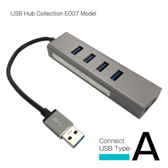WEB限定販売 USBハブ USB3.0 タイプA接続 USB−A×4ポート E007モデル